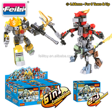 newest toys for 2017 cogo blocks 6 IN 1warrior set building blocks toys