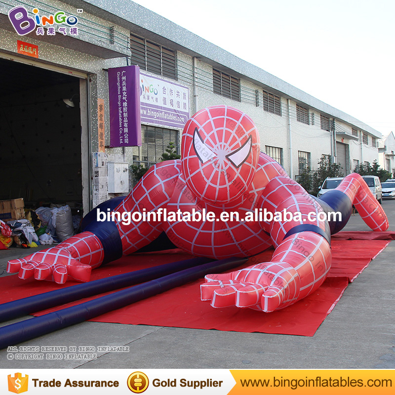 Inflatable cartoon characters climbing spider man outdoor decoration