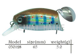 hard plastic wobble bait lure with spinner blade
