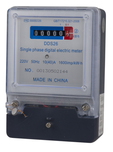 Single Phase Electronic KWH Power Meter,kwh Meter DDS