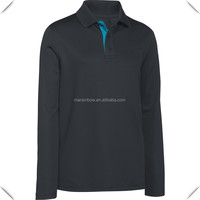 Boys' mercerized cotton Long Sleeve Golf Polo shirts custom for sports high quality best price