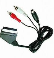 high speed scart to component av cable,gold rgb scart cable for ps2