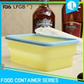 Collapsible preserving silicone material leakproof waterproof food containers