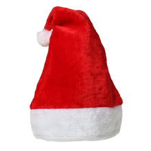 Custom Cheap Velveteen Party Make Christmas Decorations Funny Red Santa Hat