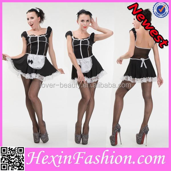 big cut off plus size women french maid costumes in stock