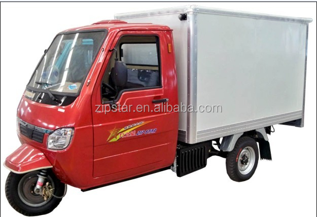 Zongshen 200CC three wheel motorcycle with closed cargo box