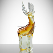 handmade decorative deer; life size glass deer statues figurines
