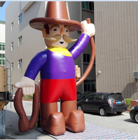 new products giant inflatable cowboy cartoons for advertising