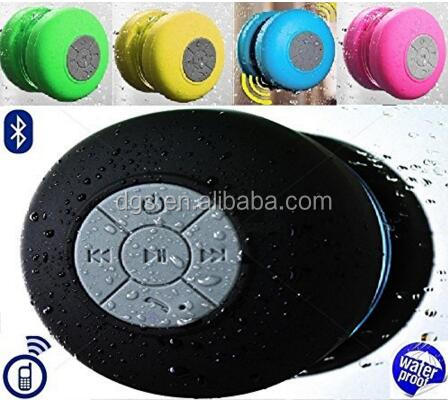 Smallest Wireless Bluetooth Speaker Bass Waterproof Shower Suction Car Bluetooth Speaker with Mic Handsfree Functions