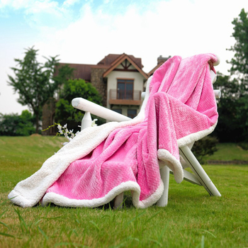 Superb quality exquisite workmanship beauty edge domestic flannel sherpa fleece blanket