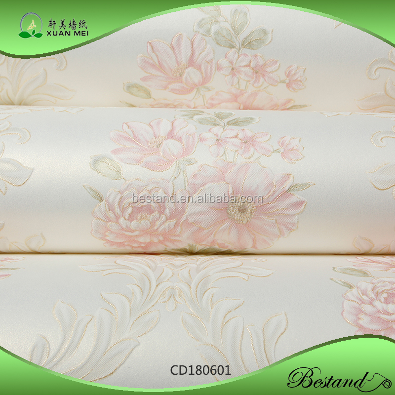 CD180601 XuanMei European Style New Design Embossed Damask Wallpaper