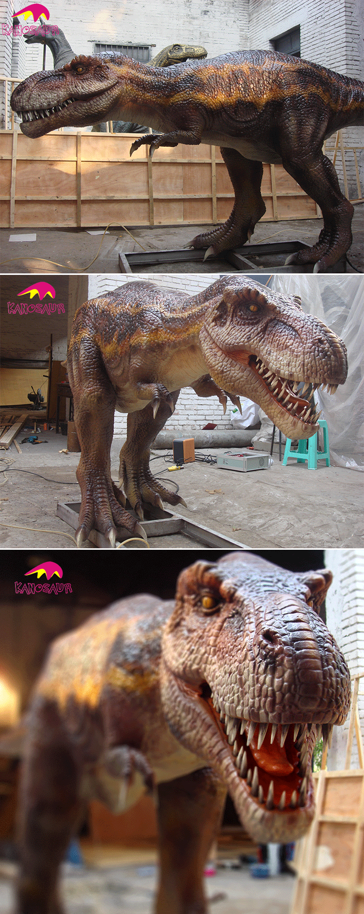 KANO0157 Waterproof Realistic Artificial Fiberglass Large Dinosaur Figure