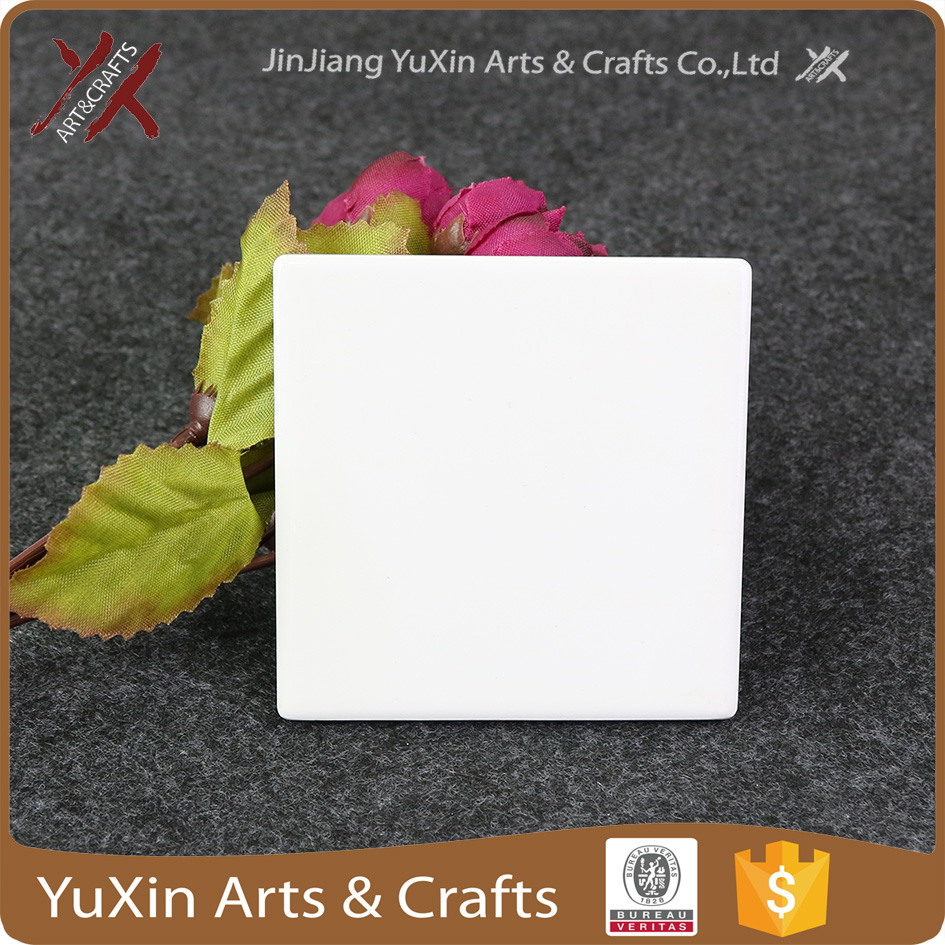 Wholesale special sublimation printing blank ceramic fridge magnet
