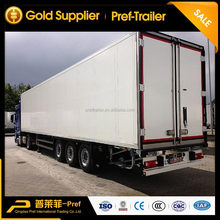 Top quality tri-axle big volume dry van semi trailer for sale