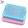 PP Resin Plastic Dog Toilet Indoor Pee Training Pad Dog Potty Tray 48*36cm