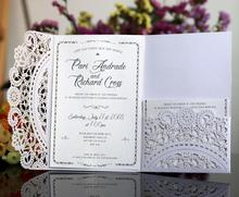 high quantity myanmar wedding invitation card 3 folded invitation card