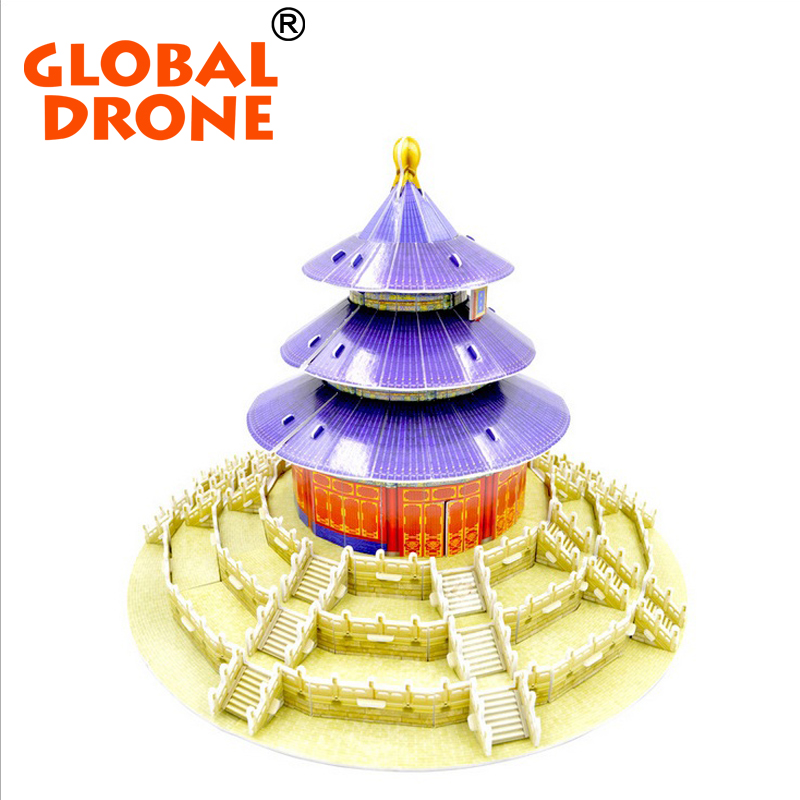 GLOBAL GRONE Temple of Heaven in China mini model Architecture jigsaw puzzles for adults