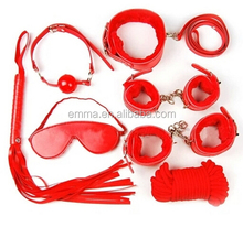 A full set of top quality deep red sex products male male bondage HK12245
