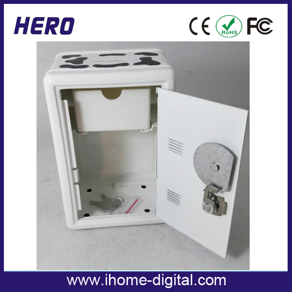 Multifunctional aluminium silver iron cd jewel tin boxes password storage cabinet made in China