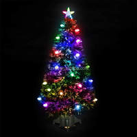 Indoor Colorful Firework PVC Fiber Optic Christmas Tree Top Star Lighting Plastic/ Metal Frame