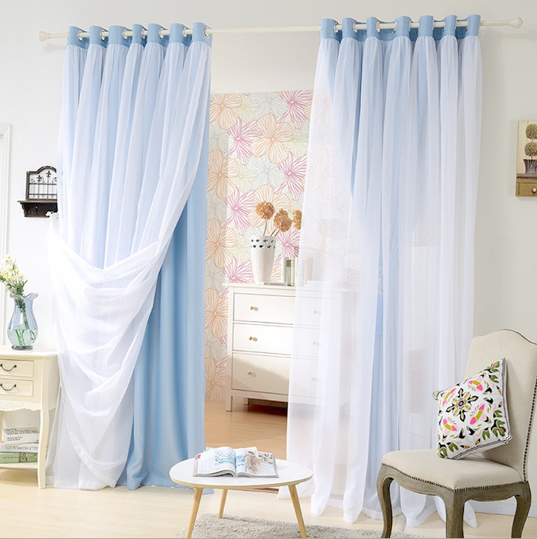 UNIKEA 1-Piece Double-Layer Luury Curtain Drapes For Bedroom Living Room Blackout Curtains For Children Room Customizabl
