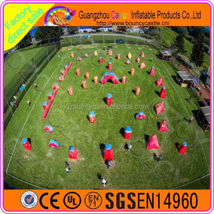 Outdoor inflatable paintball field/panitball arena/inflatable paintball tent for sale