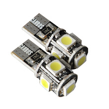 Motorcycle accessoryT10 5050 5SMD W5W canbus car led light bulbs