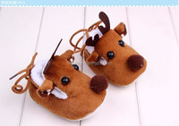The new fall and winter baby shoes super soft bottom shoes plus velvet baby toddler shoes for Christmas deer
