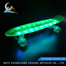 Bushing material 100% new PU 85A top skateboard brands LED skateboard lights