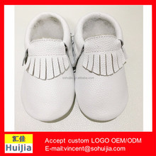 2016 hotsale white tasselleather baby moccasins wholesale china leather baby boys shoes genuine leather baby moccasins