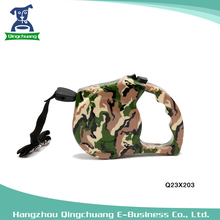 Camouflage Retractable Auto Dog Leash With Plastic Handle