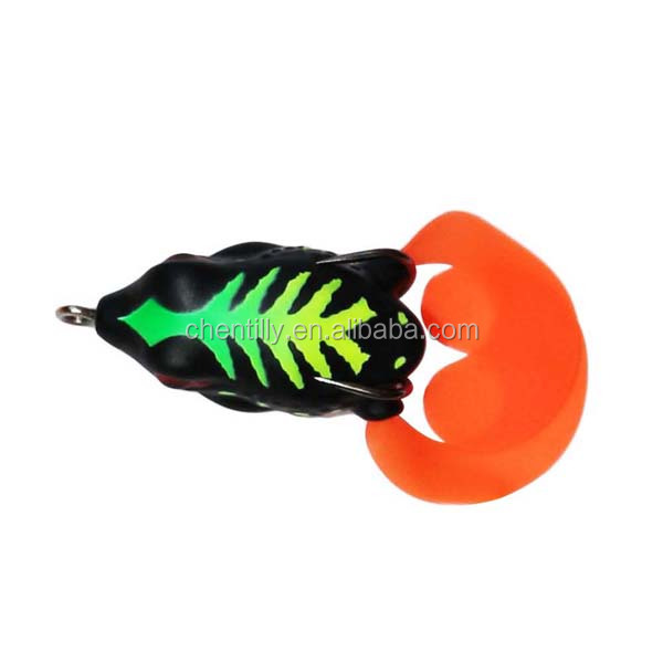 40mm 7g new designed colorful hollow soft lures factory price