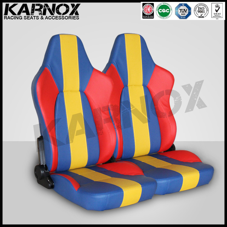 leather racing car seat