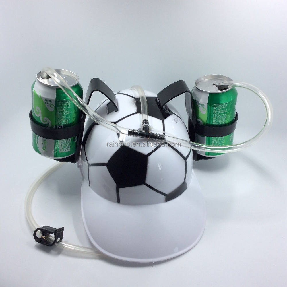 Hot selling plastic promotional beer can helmet drinking hat