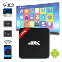 Best selling cheapest android tv box Full 1080p support H.264 Android 5.1 h96 S905 smart 4k tt tv box