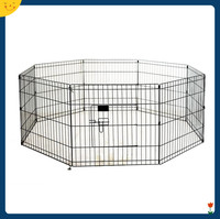 2016 Newly Designed 8 Panels Large Metal Wire Folding Exercise Yard Pet playpen wholesale