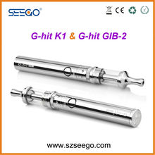 2014 Newest and the most popular hookah shisha pen Seego G-hit K1+GIB-2 battery vip electronic cigarette