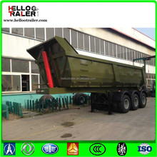 Construction 3 Axle tractor tipper trailer for cargos transporting