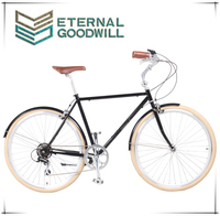 Adult bicycle GB3062 man city bike 700C retro bike 7 speed two wheel bicycle with high quality and price