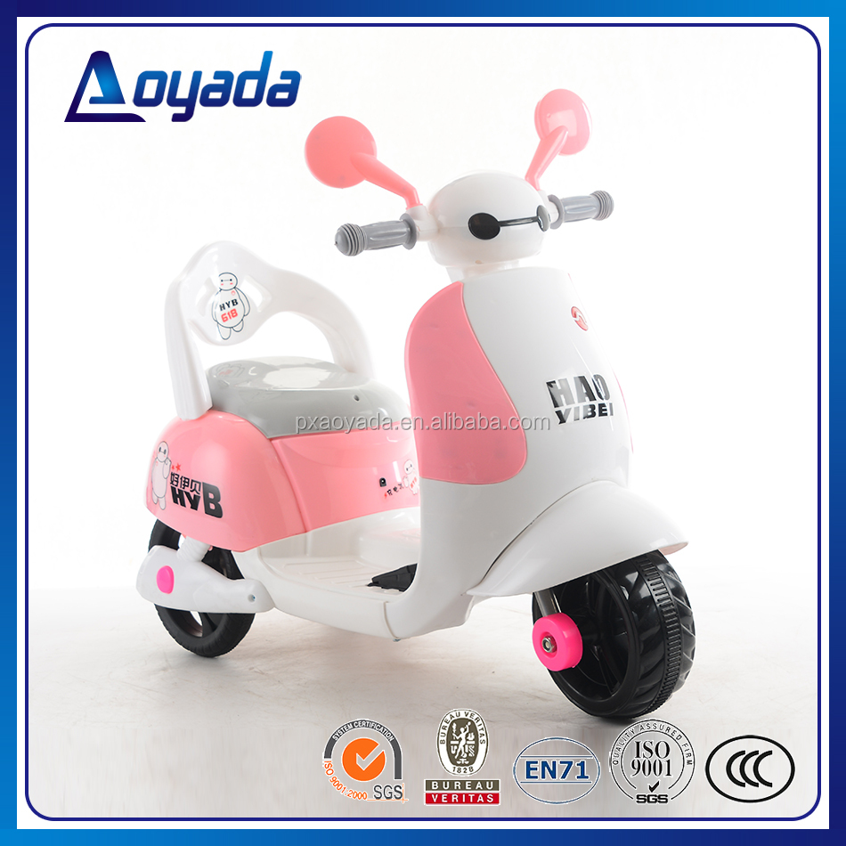 Aoyada new style kids electric motorbike for girls ride on car Baymax Style