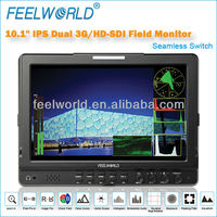 broadcasting use10 inch hd sdi monitor with SDI HDMI Ypbpr Video L/R input