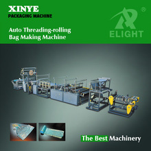 high speed Threading-rolling Bag-making Machine for selling /trash plastic bag making machine