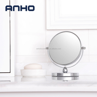 Anho metal table stand rotatable magnification personal mirror , chrome finished