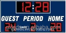 New product simplified led interactive basketball scoreboard time clock scoreboard