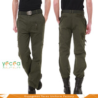 Unisex Durable Military Army tactical training pants with many pockets breathable soft customize design OEM service
