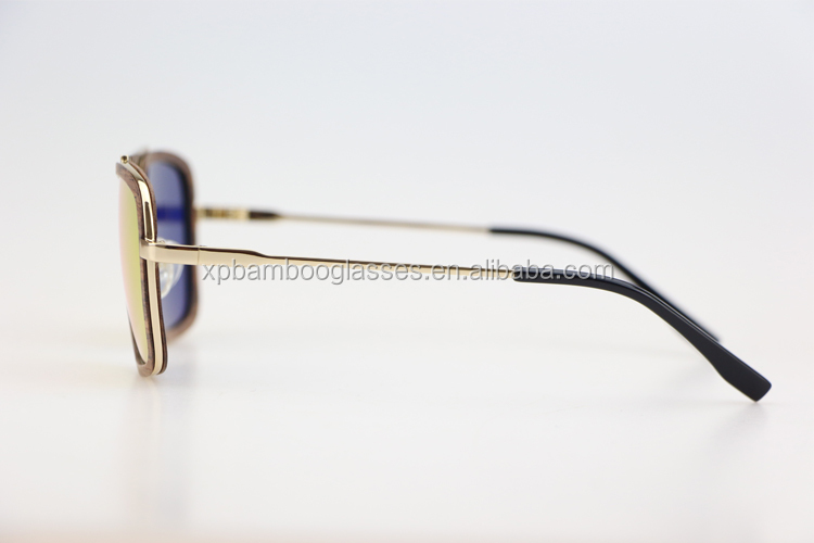 newest fashional brand big gold frame fake designer men pilot sunglasses