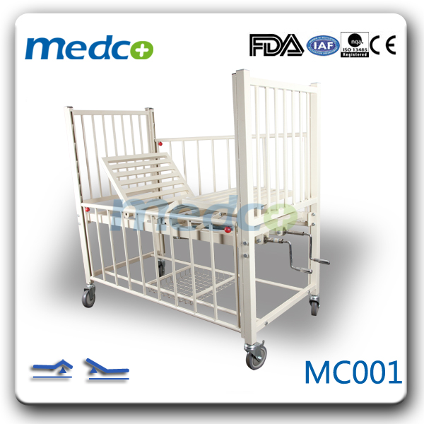 MC001 Manual two functions normal hospital children bed