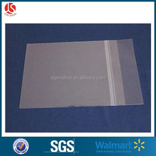 Tranparent customer size garments packaging plastic opp self adhesive bag