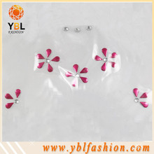 Flower hotfix resin rhinestone for trimming for dress