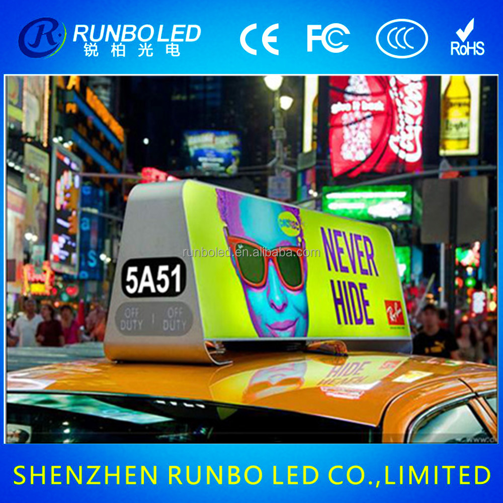 New product 2016 led taxi digital signage for advertising